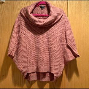 Poncho style sweater